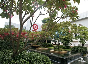 Garden outside Target India headquarters