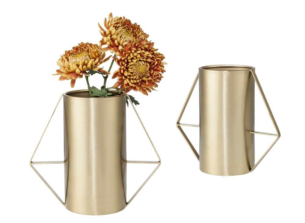 Two brass vases with handles from the Nate Berkus for Target collection