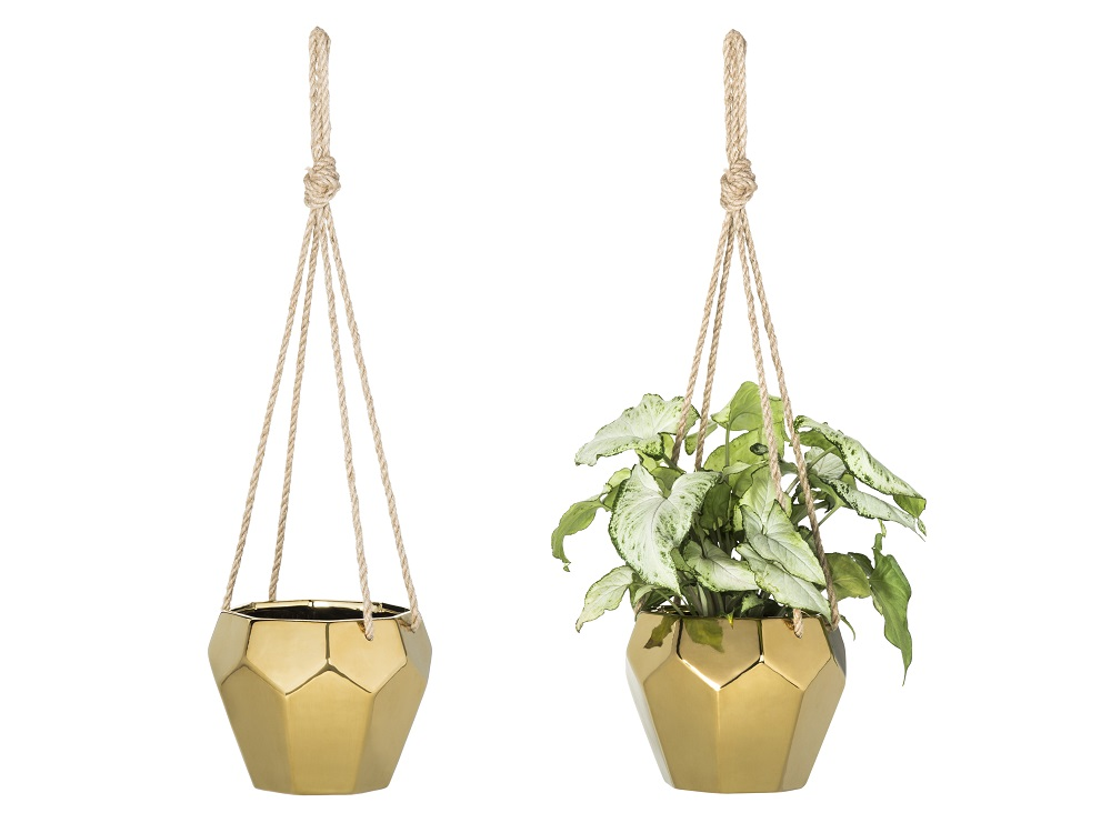 Room Essentials Gold Faceted Hanging Planter ($14.99)