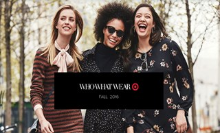 Three models in looks from the Who What Wear collection at Target