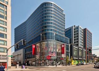 The exterior of the Boston Fenway Target store in Boston, MA
