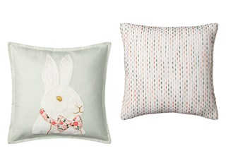 Threshold Bowtie Bunny Pillow or Textured Stripe Pillow