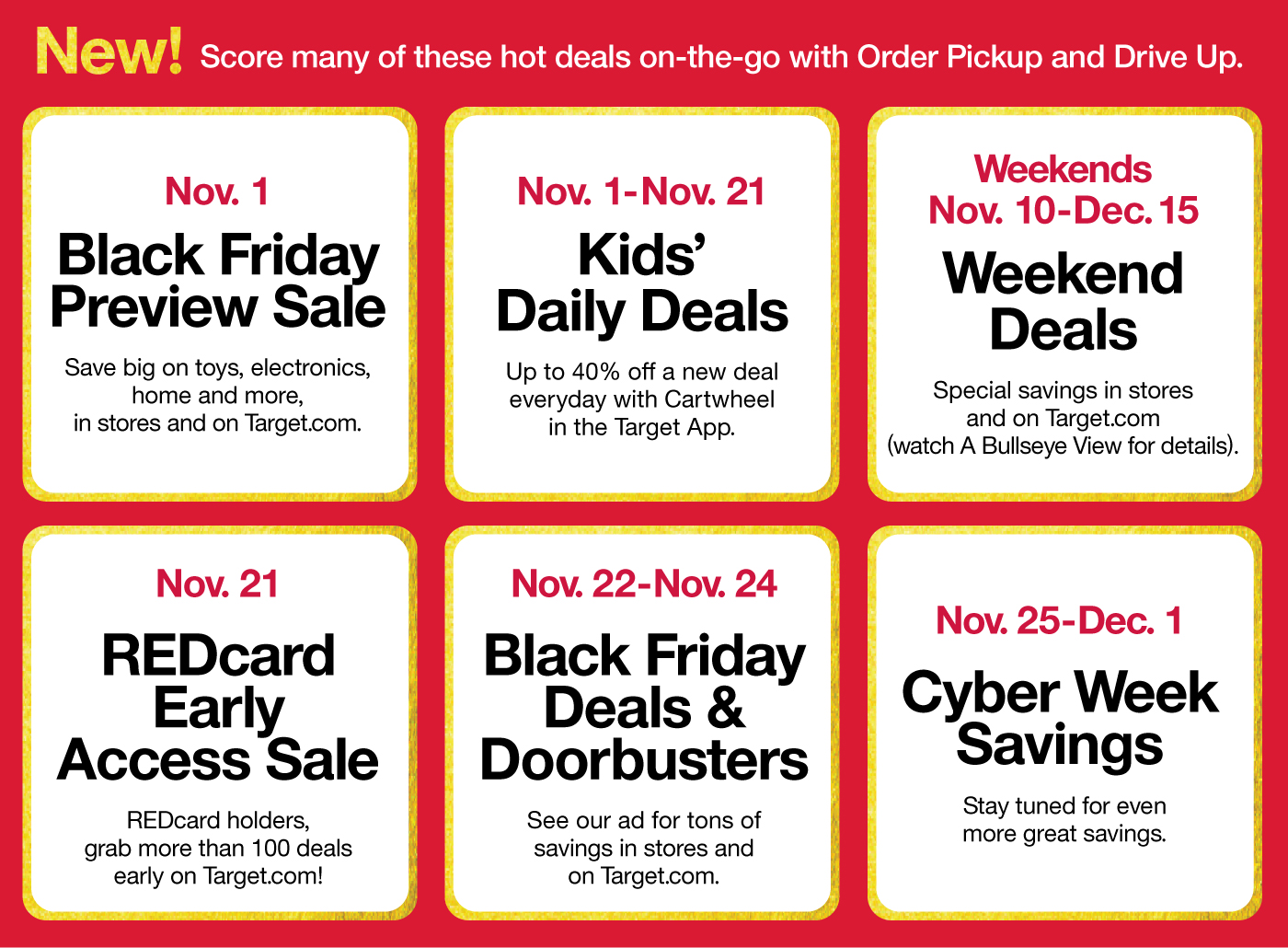 target ushers in the holidays with reveal of black friday deals, new