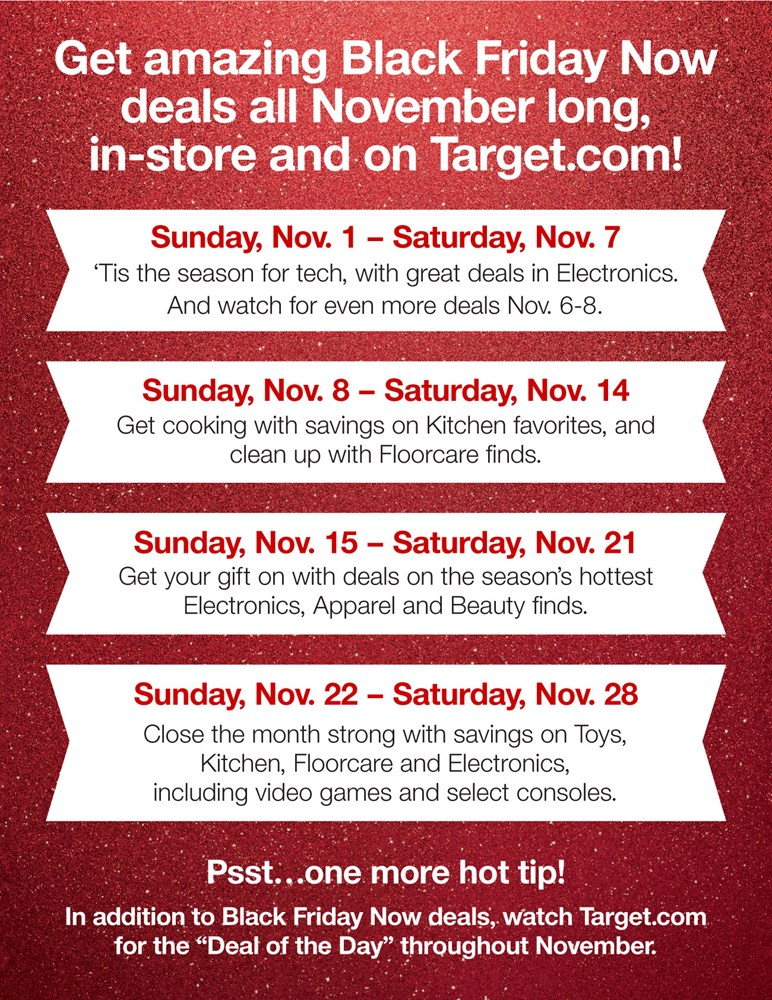 Target Reveals Black Friday Now Deals Available Throughout November