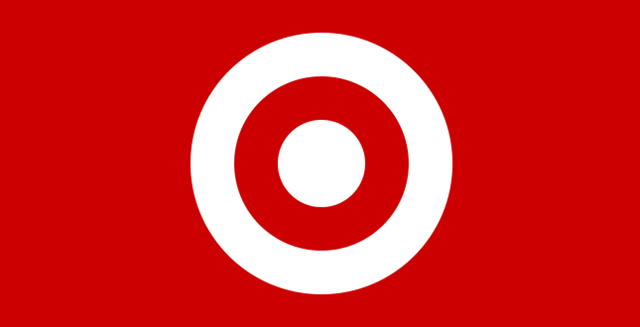 Target's white bullseye logo on red background