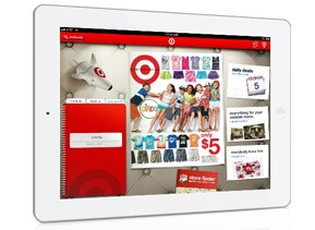 Target.com on an iPad device
