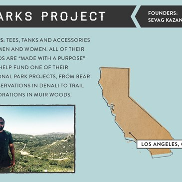 Graphic showing the Parks Project founder Sevag Kazanci.