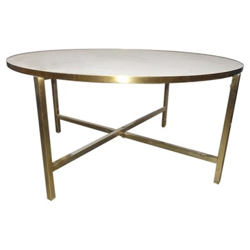 round white coffee table with gold legs
