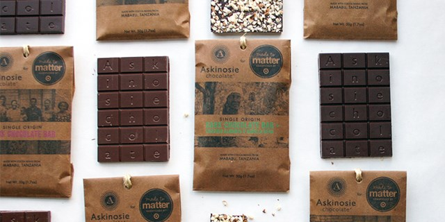 Target and Askinosie Chocoalte collaboration chocolate bars.
