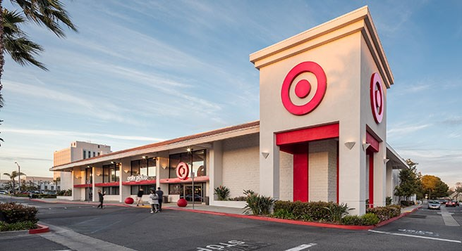 The exterior of Target's flexible format store in Long Beach, now open
