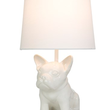 Bulldog Table Lamp On