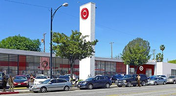 The exterior of Target's upcoming Burbank, Los Angeles, CA, store