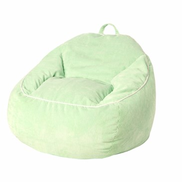 Extra Large Courduroy Bean Bag Chair in Aquamint