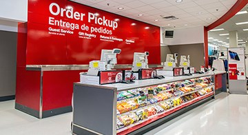 The Order Pickup desk in one of Target's LA25 stores