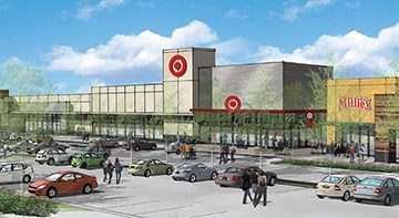 The exterior of Target's upcoming Mission Hills, Los Angeles, CA, store