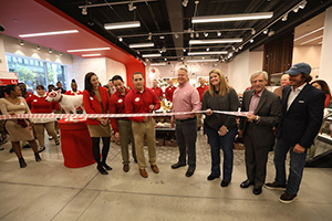 Ribbon cutting at the new store