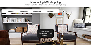 360 shopping experience landing page on Target.com
