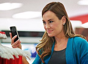 guest shopping with a smartphone