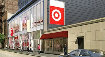 The exterior of Target's upcoming Brooklyn Midwood, NY, store