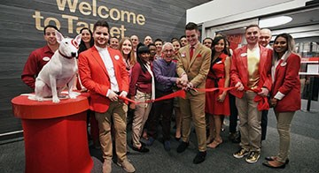 The Herald Square team and Bullseye cut the ribbon on their new store.