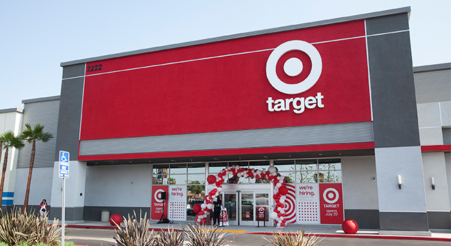 The exterior of Target's upcoming Anaheim East, CA, store