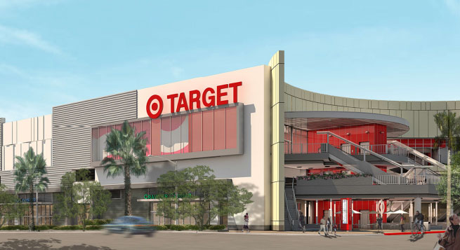 The exterior of Target's upcoming Hollywood store