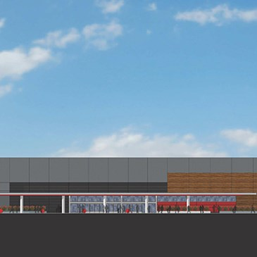 A rendering of the exterior of our upcoming Goleta store