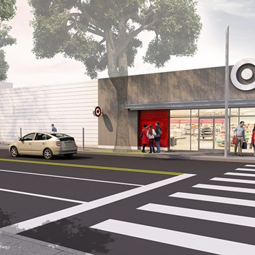 A rendering of the exterior of our upcoming Santa Monica store