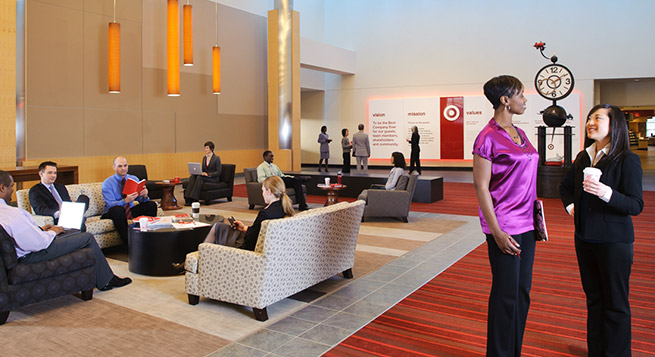 Inside target headquarters target respects and values the