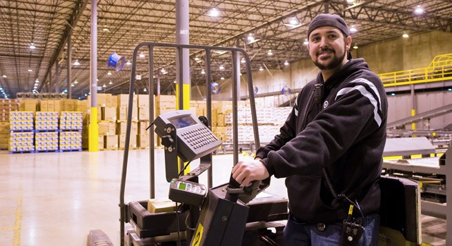 Team member at distribution center