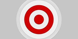 A red Target bullseye logo surrounded by gray rings.