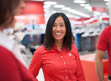 a Target team member during an in-store team meeting