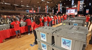 Target team members volunteer during the National Day of Service