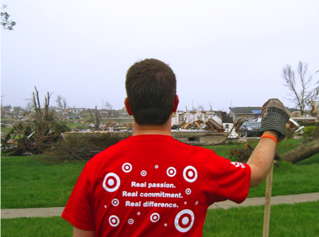 Target team member helping out in natural disaster