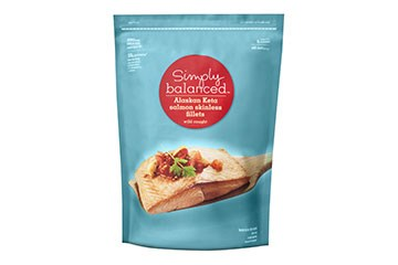 one bag of Simply Balanced salmon
