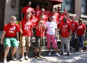 team members at a United Way volunteer event