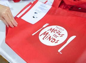 a meals for minds pantry bag