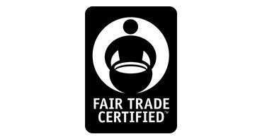 Fair Trade Certified black logo on white background