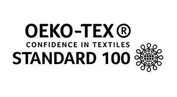 The black OEKO-TEX logo on a white background