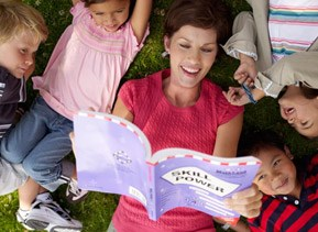 a teacher reading to students