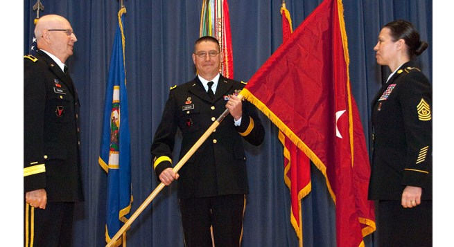 Bill Lieder at his ceremony to be promoted to rank of brigadier general.