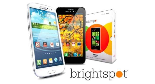 mobile devices next to a Brightspot package