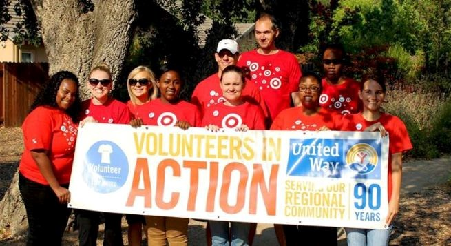 team members at a United Way event