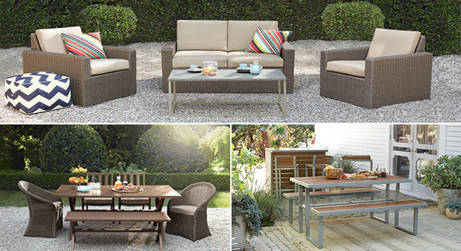 Three Outdoor Patio Collections