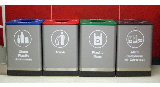 One of Target's many store recycling bins