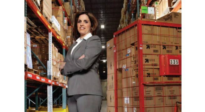 Katie Dempsey at a distribution center