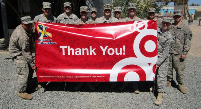 a Target team member's troop in Kuwait