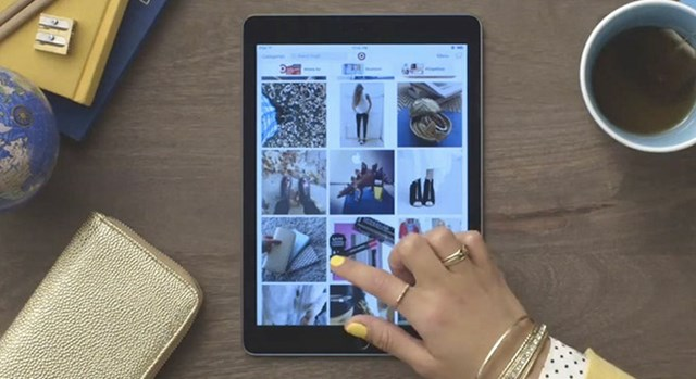 Guest looks at new Target iPad app
