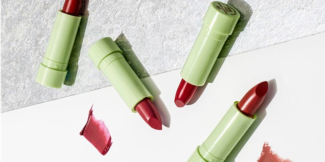 Various shades of red Pixi by Petra Holiday Collection lipstick
