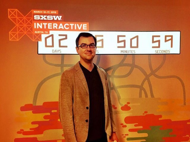 Alan Wizemann poses for a picture at SXSW Interactive